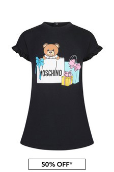 Moschino Kids Moschino Baby Girls Pink Cotton Dress