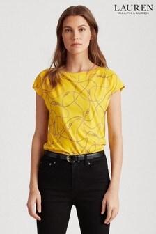 Lauren Ralph Lauren® Yellow Chain Print Grieta T-Shirt