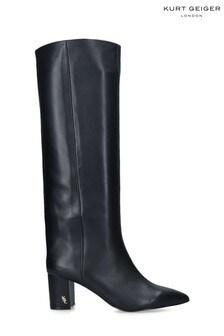 Kurt Geiger London Black Burlington Stov Knee Boots