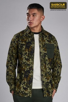 Barbour® International Green Hex Camo Overshirt