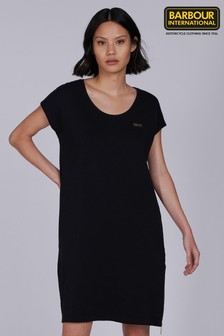 Barbour® International Black Gold Trim Pace T-Shirt Dress