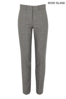 River Island Grey Pow Check Trouser