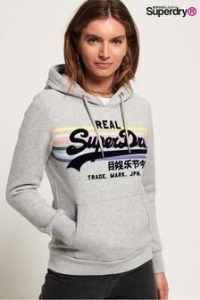 Superdry Vintage Logo Rainbow Stripe Hoody
