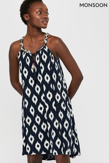 Monsoon Blue Cori Jersey Dress