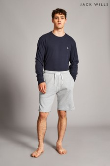 Jack Wills Grey Marl Stobhill Textured Lounge Shorts