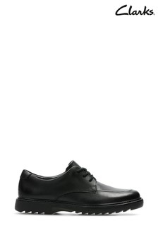 Clarks Youth Black Asher Grove Lace Shoes
