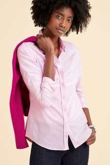 قميص قطني وردي من Pure Collection