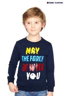 Fabric Flavours Blue Star Wars™ May The Force Sweatshirt