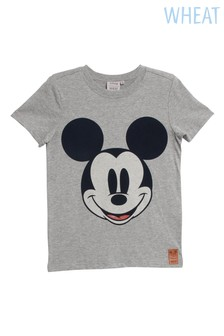 Wheat Grey Mickey Mouse™ Flocked T-Shirt