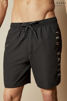Ted Baker Black Gadget Branded Swim Shorts