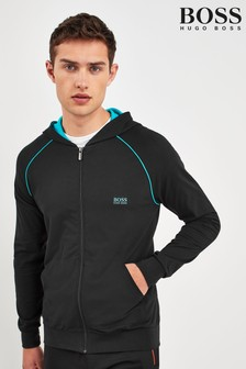BOSS Black Hooded Zip Jacket