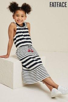 Fat Face Blue Ruby Block Stripe Maxi Dress