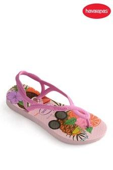 Havaianas® Kids Luna Print Flip Flops