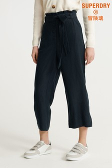 Superdry Navy Linen Trousers