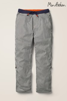 Mini Boden Blue Surf Roll-Up Trousers
