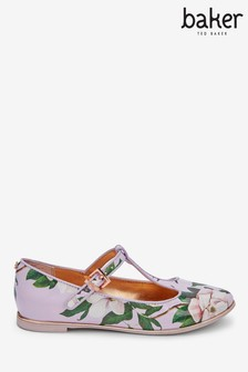 Baker By Ted Baker Opal Floral T-Bar Shoes