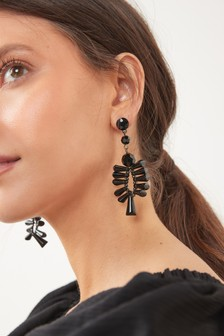Beaded Large Statement Earrings