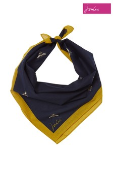 Joules Blue Neckerchief Printed Square Scarf