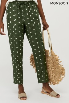 Monsoon Green Francine Printed Joggers