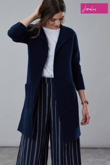Joules Camilla Longline Ribbed Cardigan