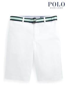 Ralph Lauren White Twill Shorts