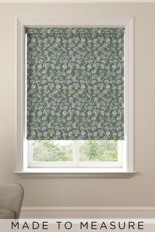 Leya Forest Green Made To Measure Roller Blind