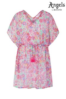 Angels by Accessorize Pink Mexican Mandala Printed Kaftan