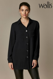 Wallis Black Plain Shirt