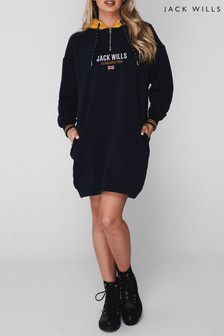 Jack Wills Navy Gilby Sweat Dress