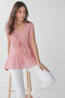 V-Neck Tiered Top