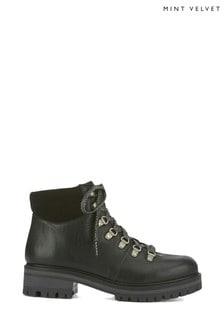 Mint Velvet Janny Black Hiking Boots