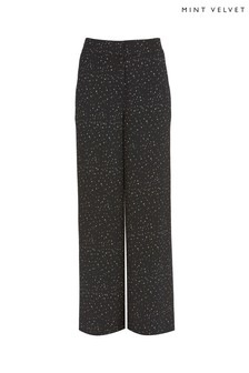 Mint Velvet Ivy Print Wide Leg Trousers