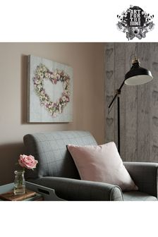 Floral Heart Canvas by Art For The Home