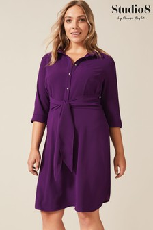 Studio 8 Purple Monty Shirt Dress