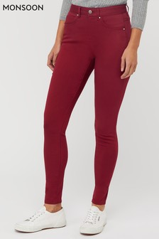 Monsoon Ladies Red Nadine Jeans