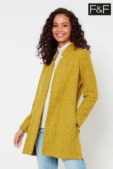 F&F Mustard Snit Coat