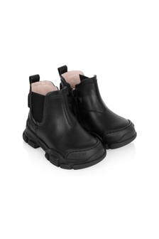 GUCCI Kids Kids Black Leather Leon Booties