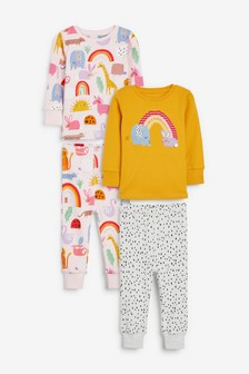 2 Pack Embroidered Character Snuggle Pyjamas (9mths-8yrs)