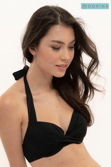 DORINA Black Fiji Halter Neck Bikini Top