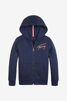 Tommy Hilfiger Boys Essential Signature Full Zip Hoody