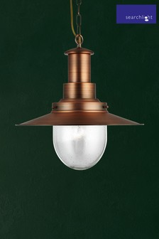 Dover 1 Light Large Fisherman Style Pendant by Searchlight