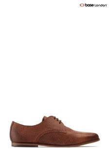 Base London® Tan Senna Emboss Lace-Up Shoes