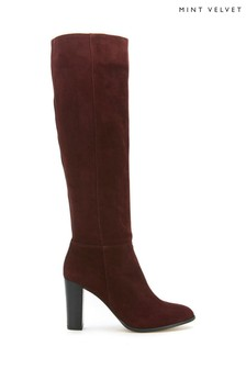 Mint Velvet Faith Burgundy Long Boots