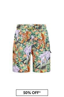 Kenzo Kids Boys Khaki Swim Shorts