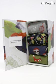 Thought Green Sybil Sock Box Four Pack