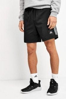 adidas Black Must Have 3 Stripe Shorts