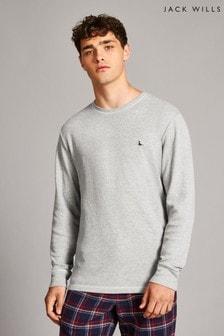Jack Wills Grey Marl Ashcroft Textured Long Sleeve T-Shirt