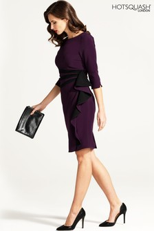 HotSquash Contrast Side Frill Dress