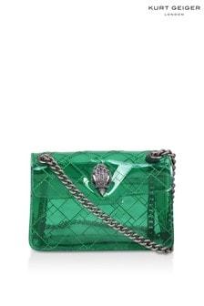 Kurt Geiger London Green Transparent Mini Kensington Bag
