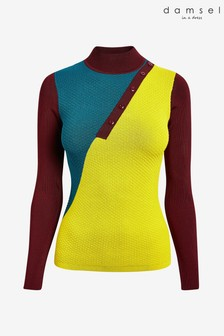 Damsel In A Dress Multi Cliona Colourblock Knit Top
